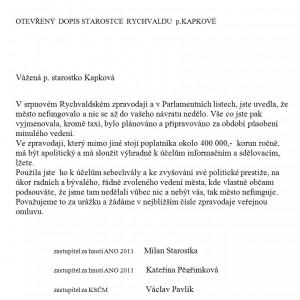 Otevřený dopis - Kapková